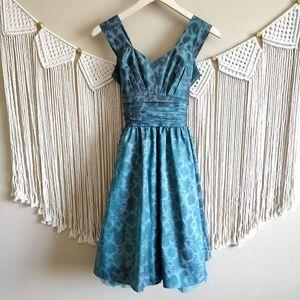 Betsy Johnson Green Animal Printed Prom Dress 6